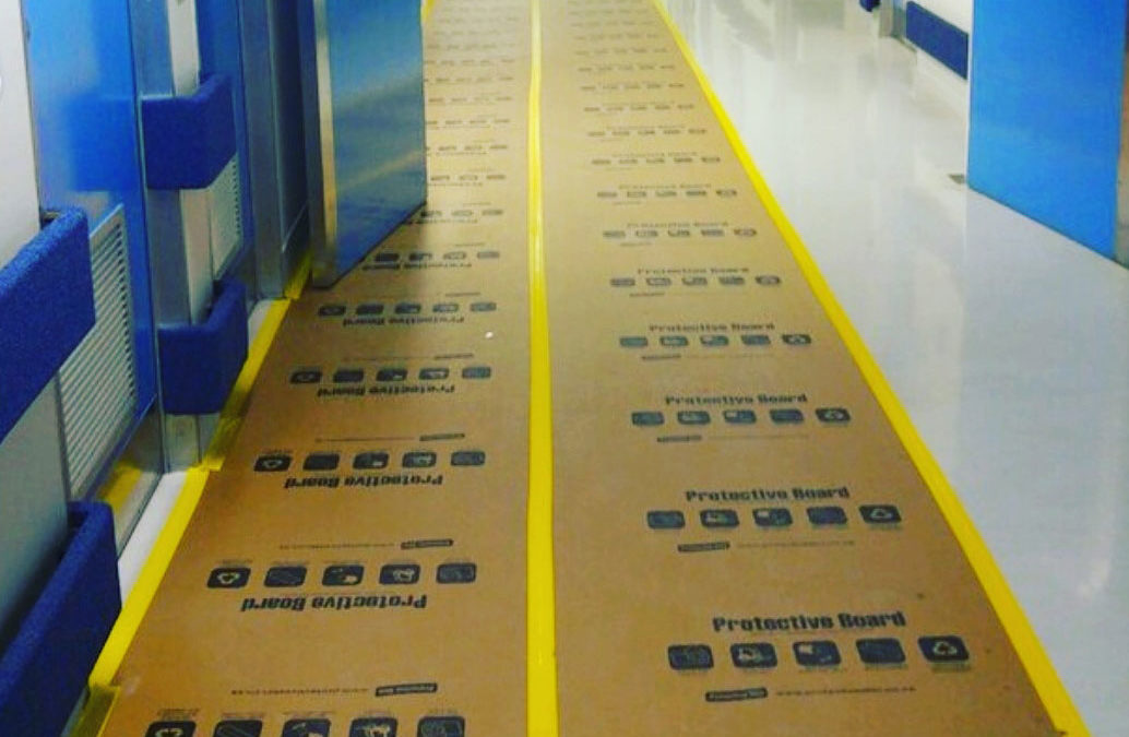 Keeping hospital floors like new, during construction work